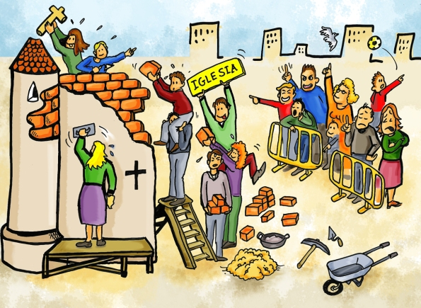 Resultado de imagen para iglesia y laicos construcción