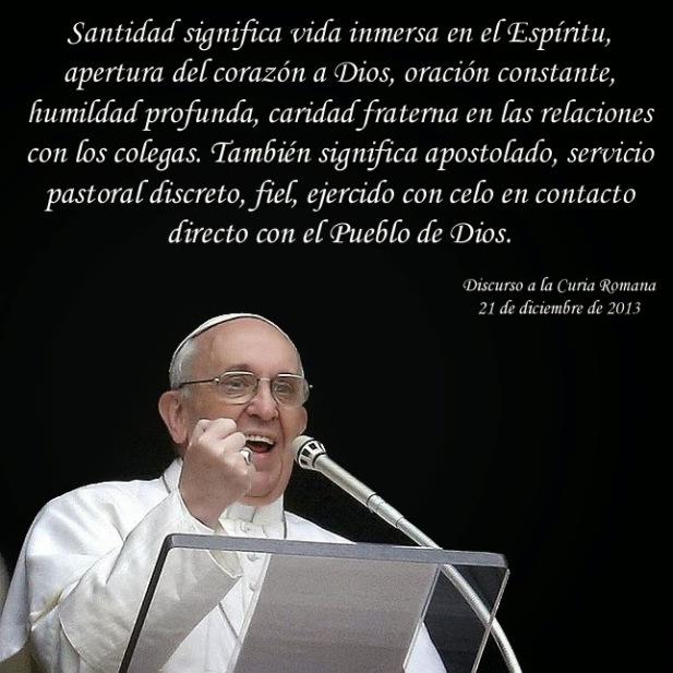 Resultado de imagen de la santidad papa francisco